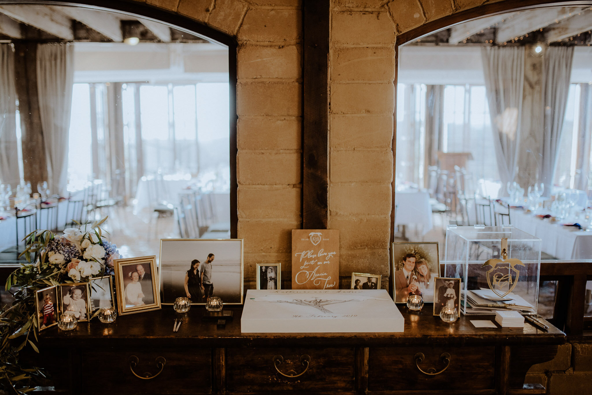 Gift table and guest book Mudbrick