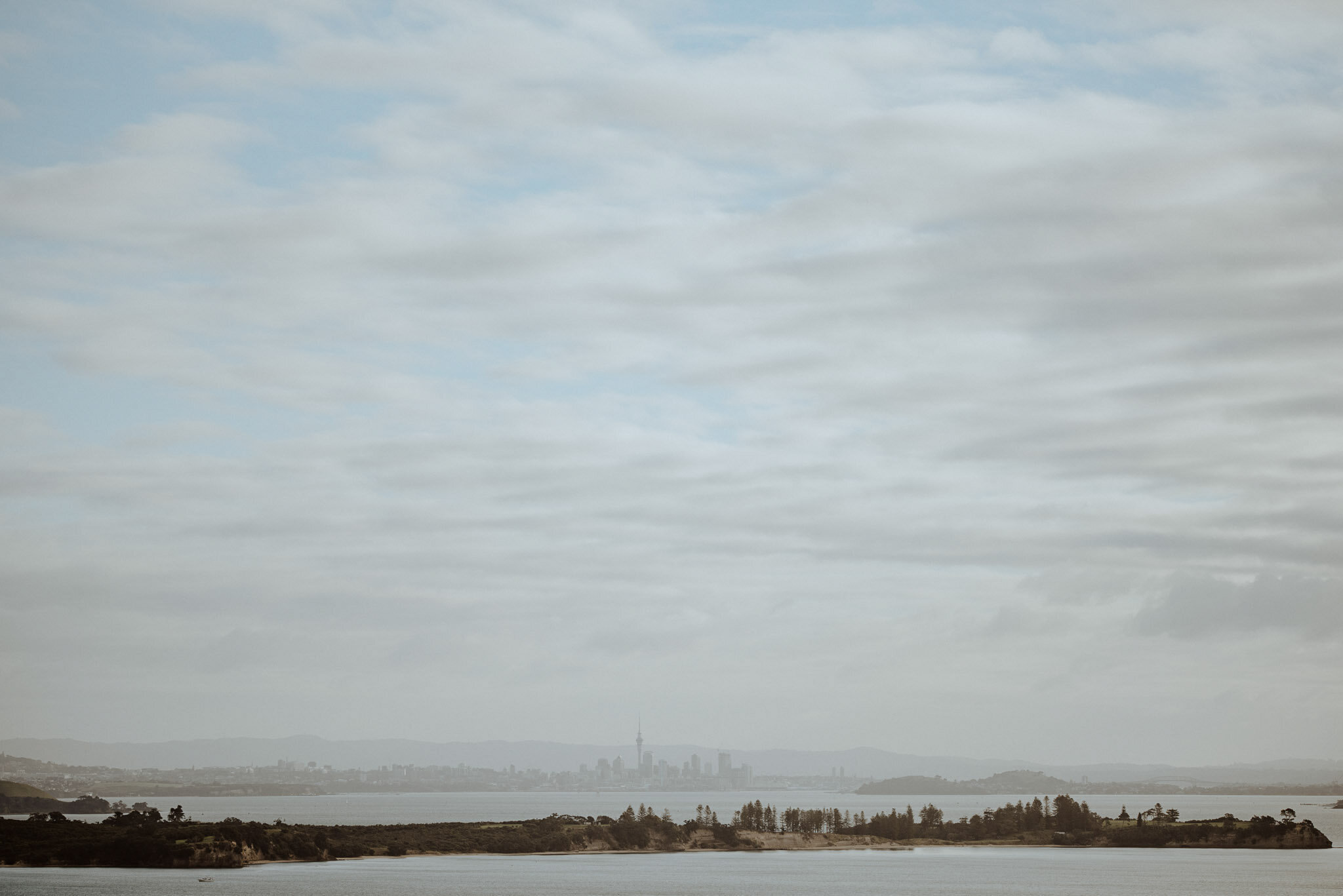View of Auckland City from Mudbrick