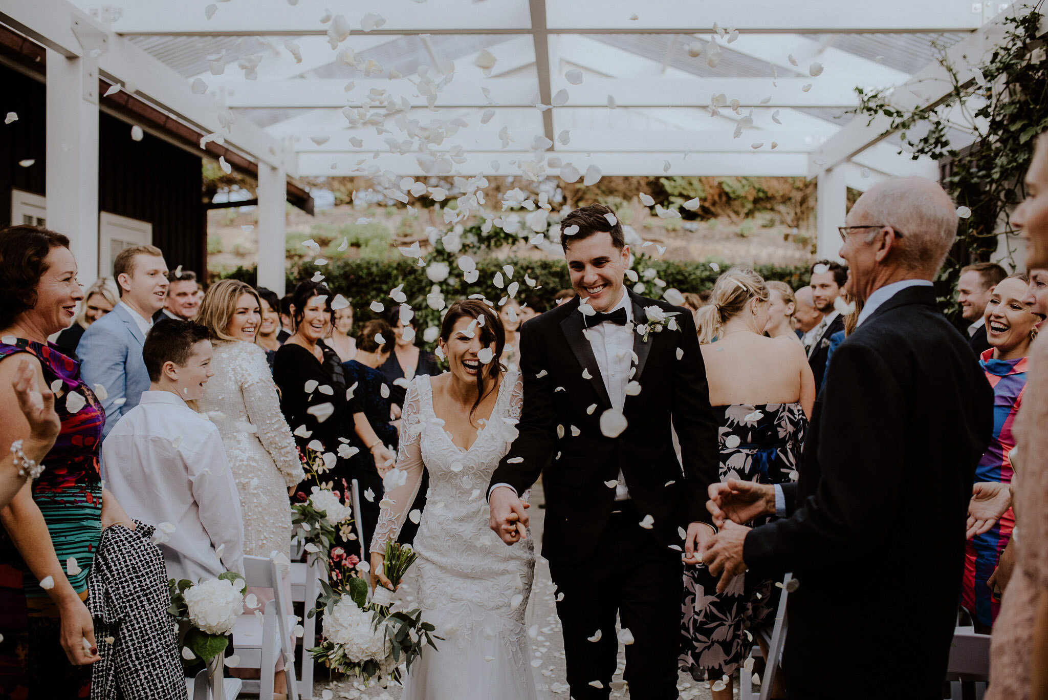 Mudbrick Indoor Ceremony White Petal Confetti