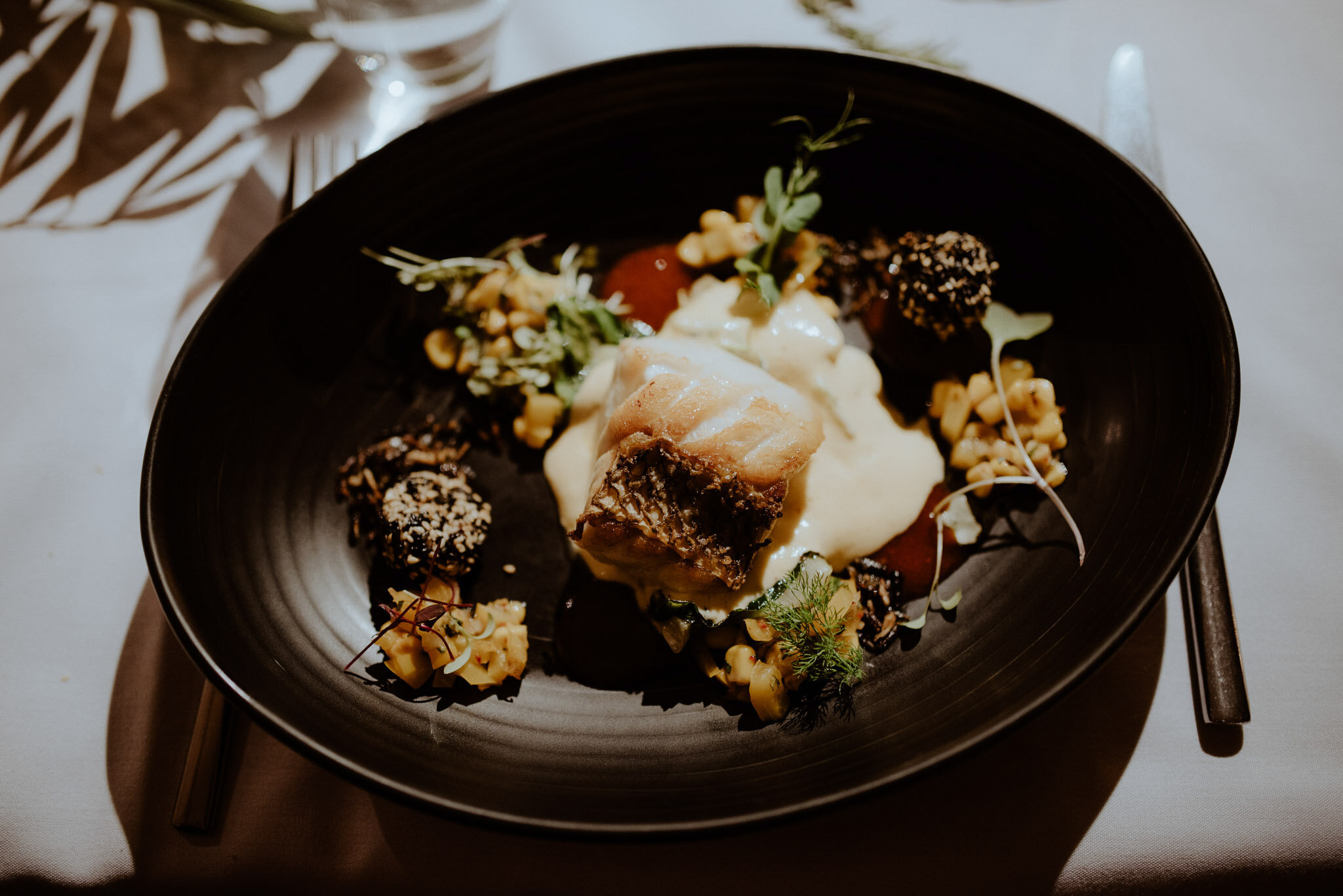 Wedding food at Mudbrick