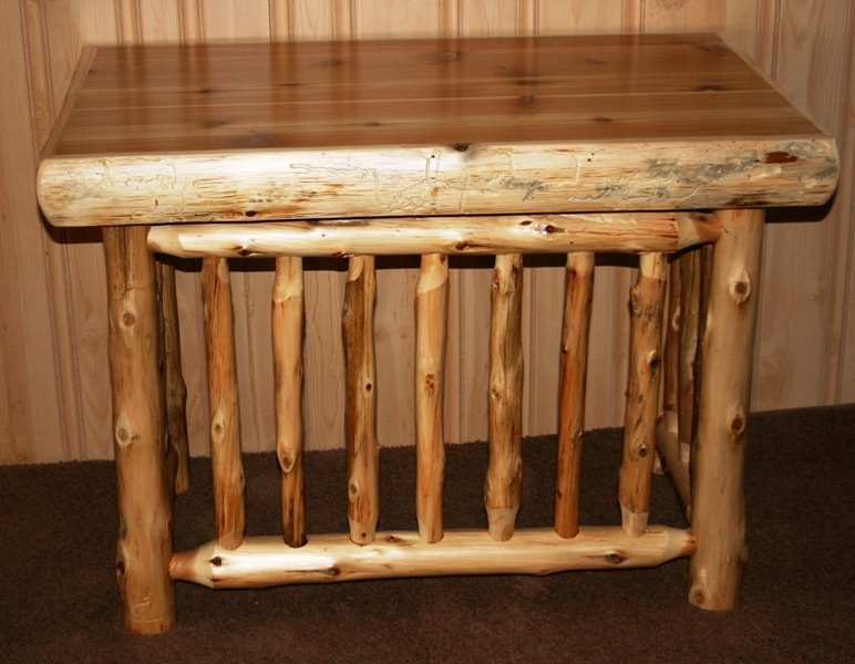 Cedar Log Writing desk alone.jpg