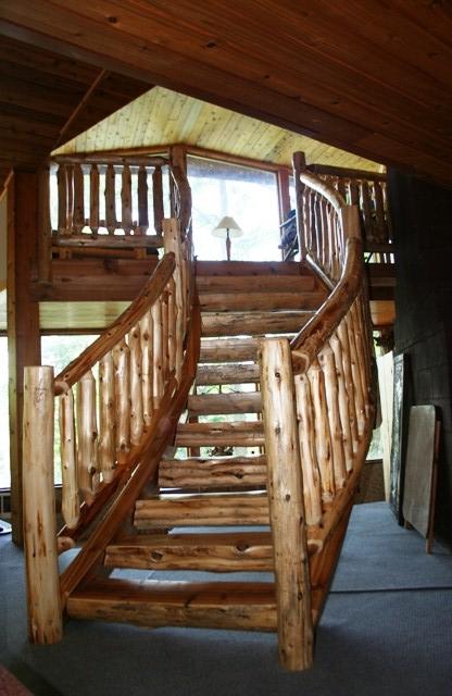 Curved Log Stairs 7.JPG
