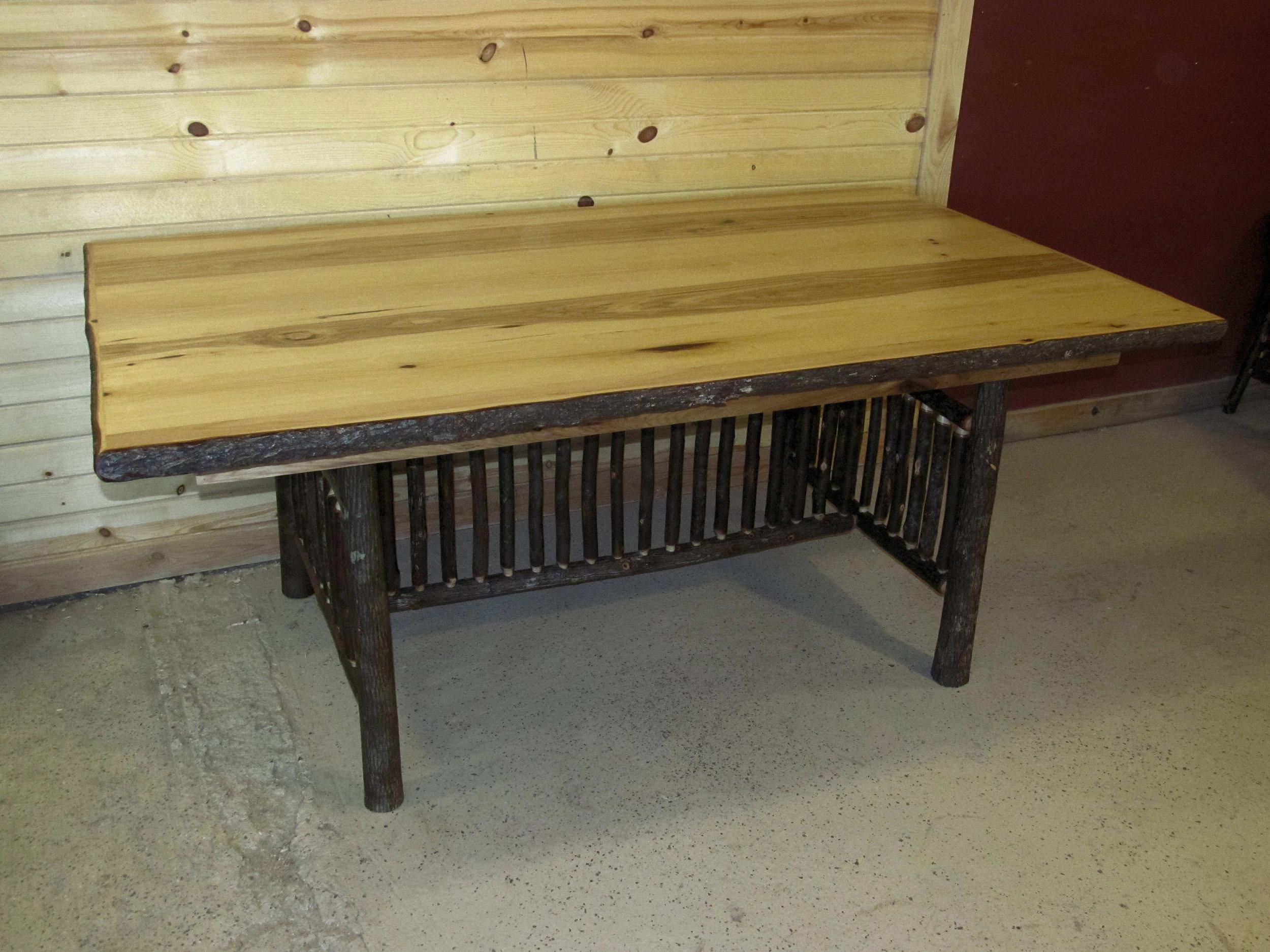 rusticraft hickory live edge restaurant table.jpg