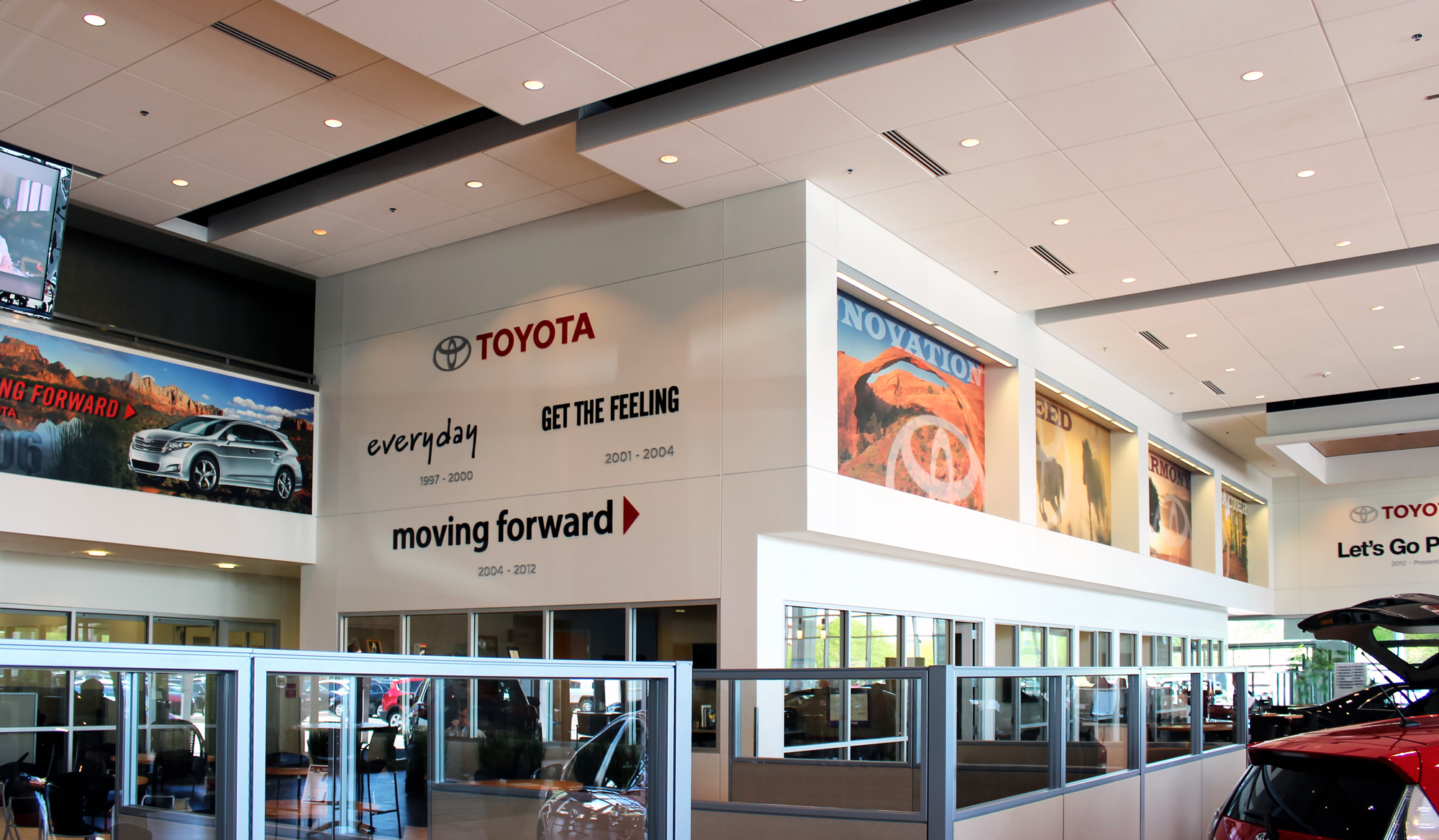 Toyota branded taglines reminds loyal customers of past slogans.