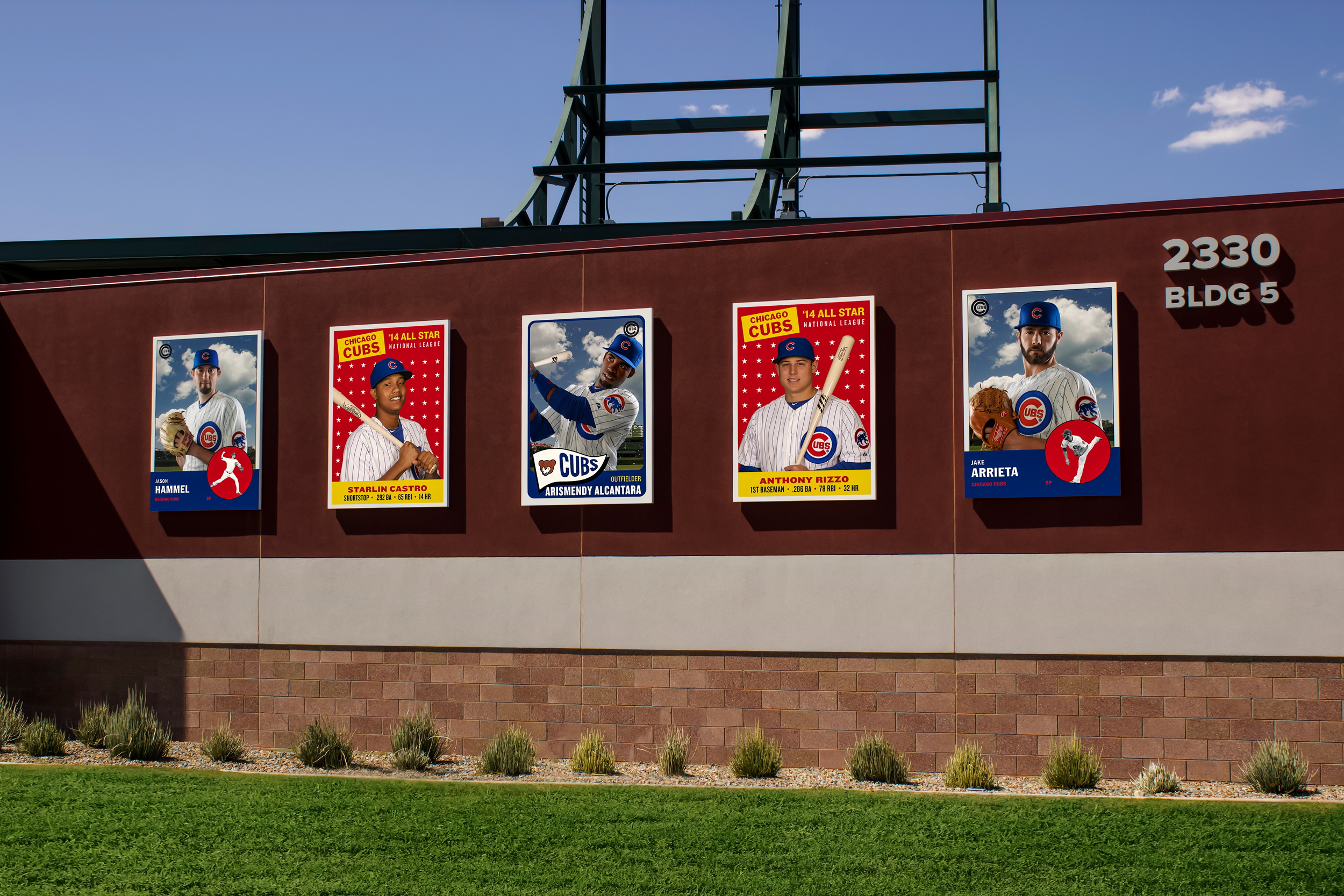 Vintage feel baseball cards are constructed from aluminum and high resolution grand format digital prints.