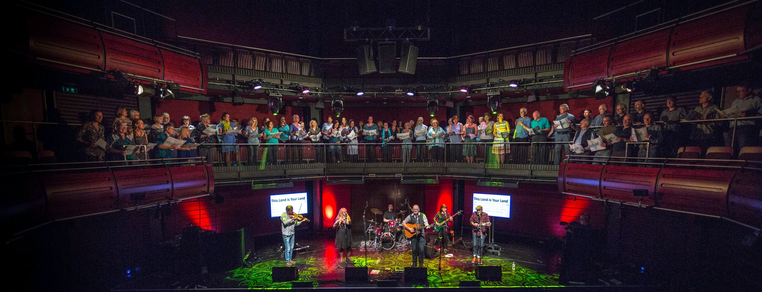 Sing Owt! and Voicebeat perform at Sage Gateshead with Tryckster in July 2017 'Coast to Coast' event