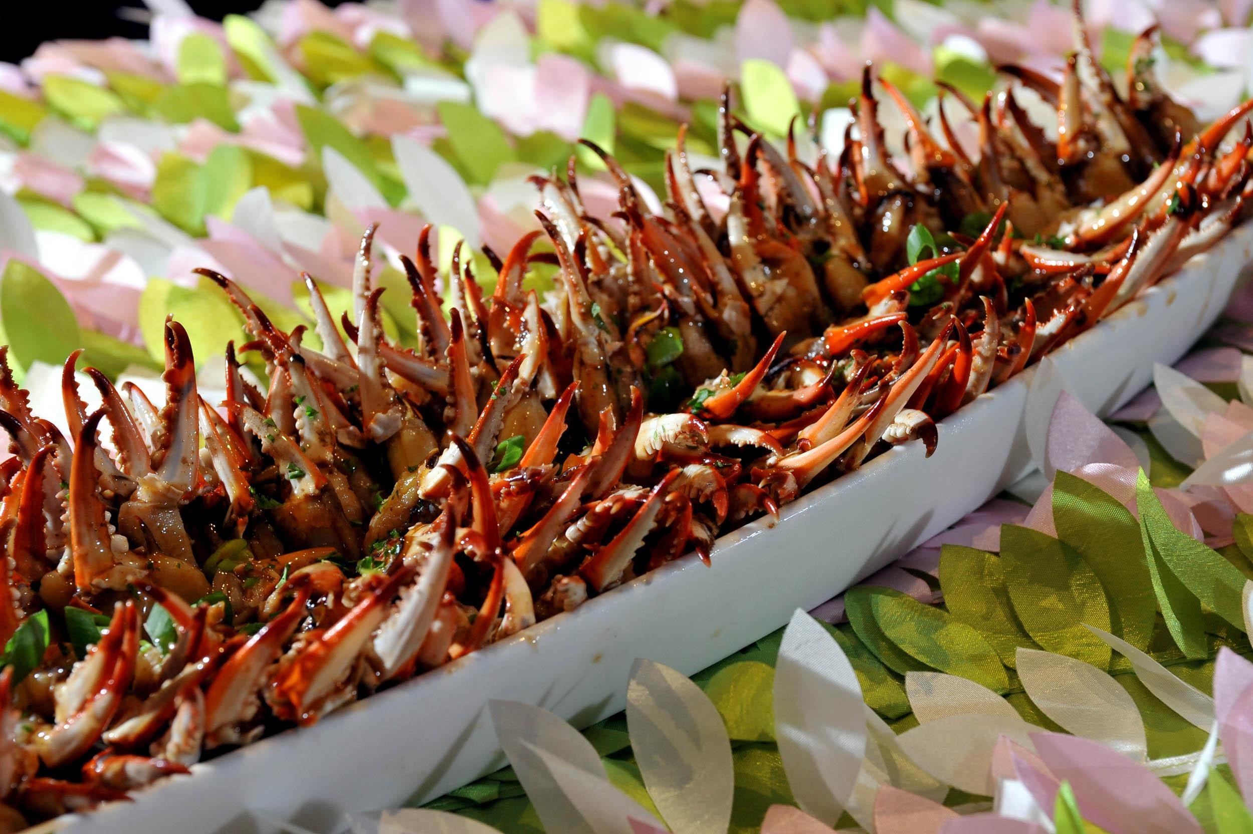 Orange Marinated Crab Claws (gluten-free)