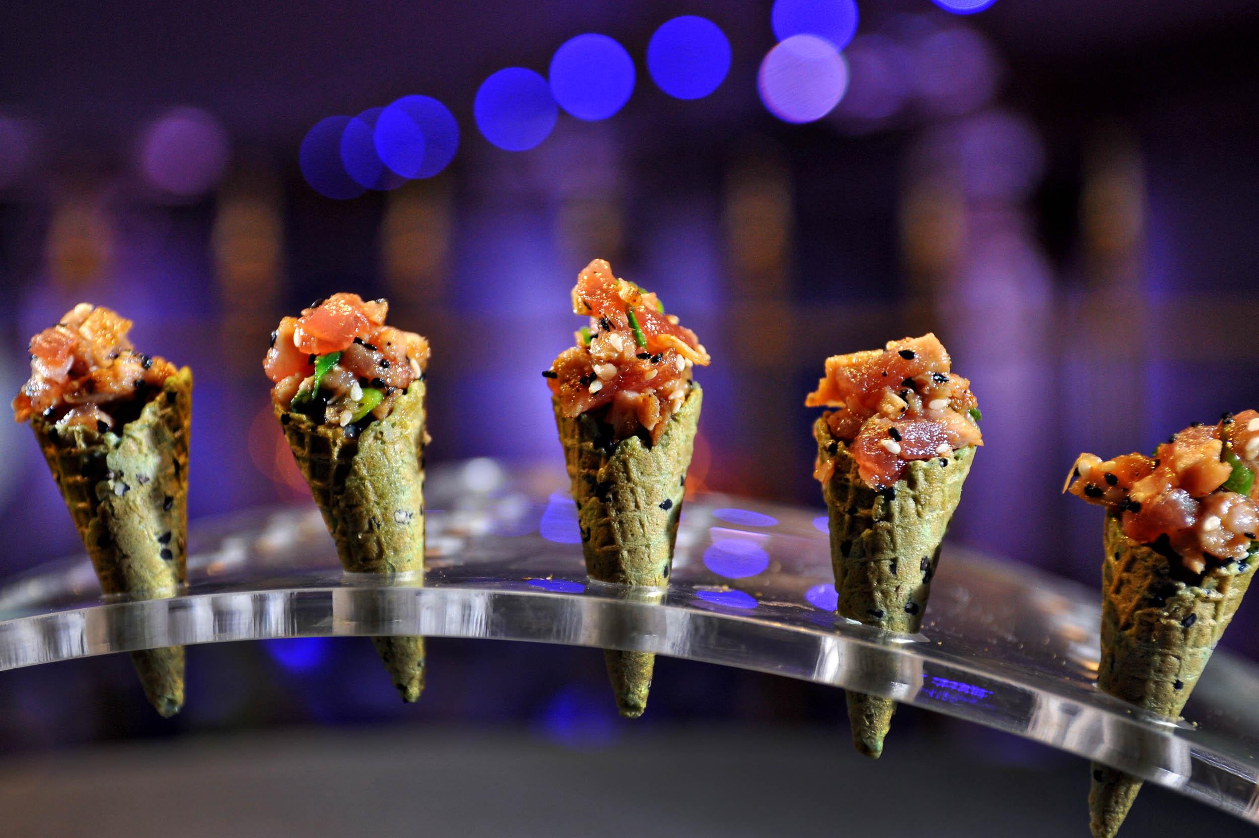Tuna Tartare in Sesame Mini-Cones