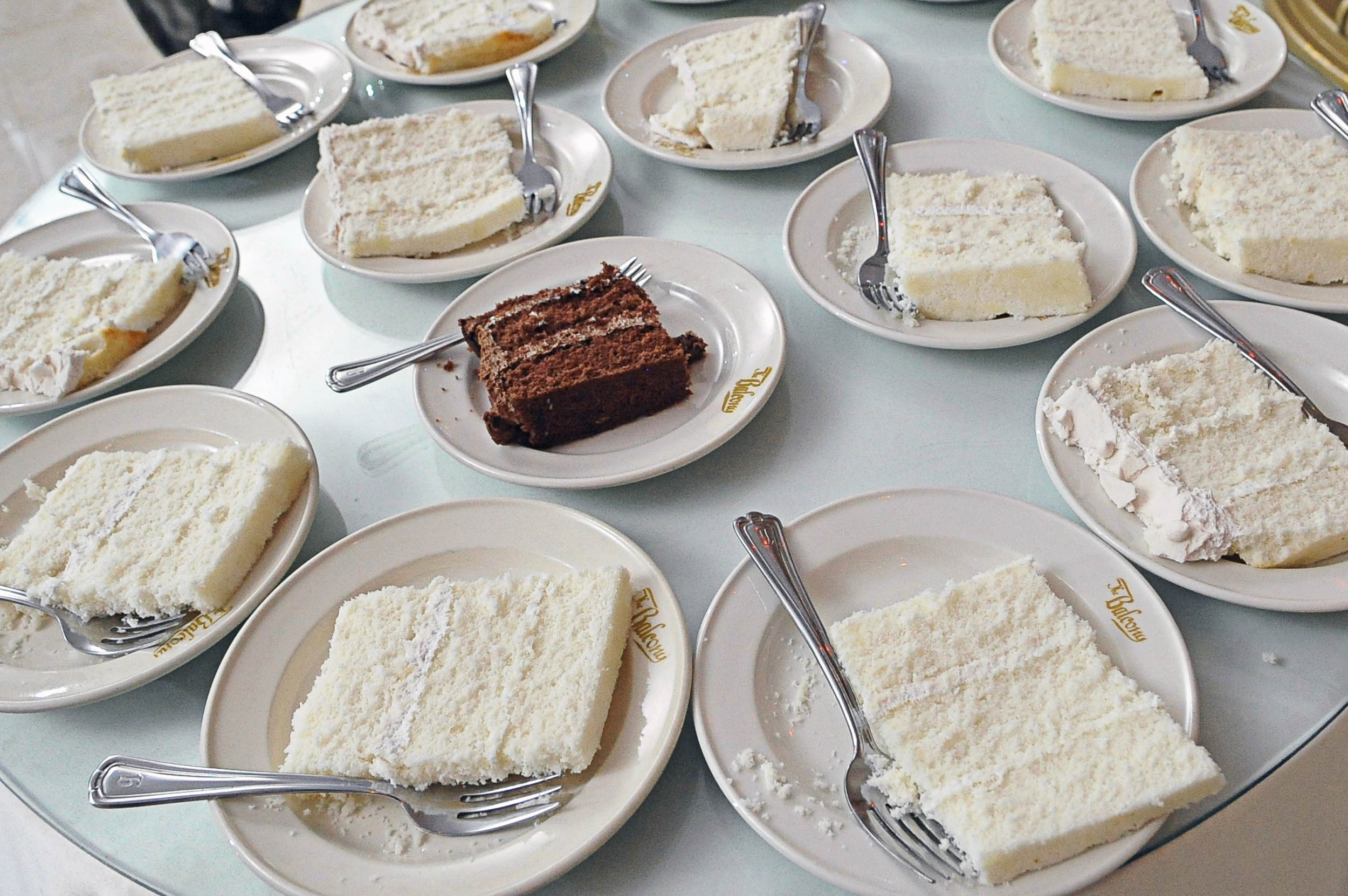 We serve your cake on actual real plates!!!