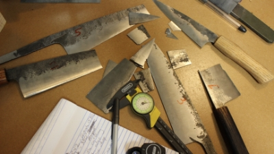Exhaustive knife heat treatment and performance testing makes a big mess.