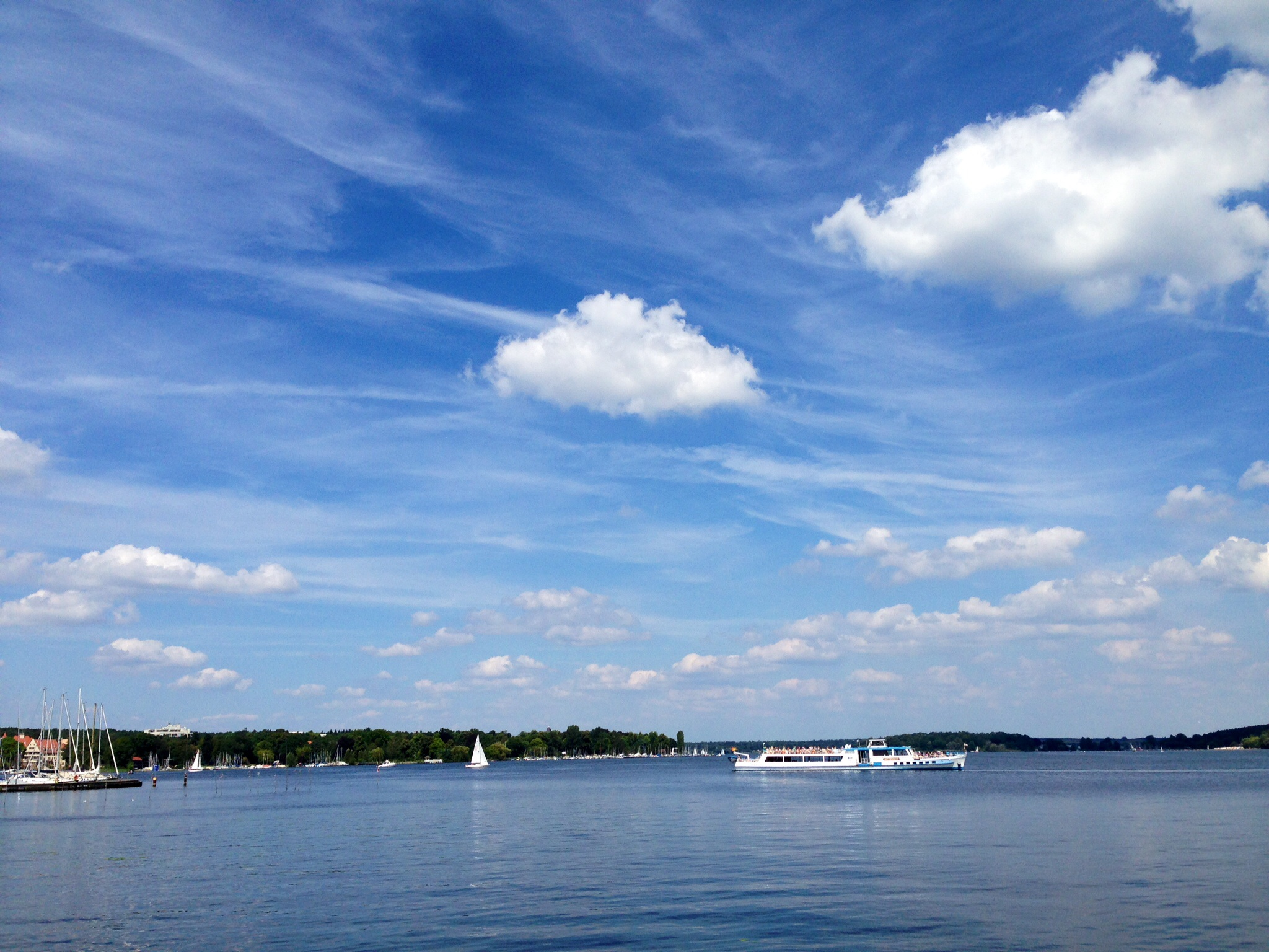 Wannsee; gorgeous lake but the perimeter isn't very bicylce-friendly.