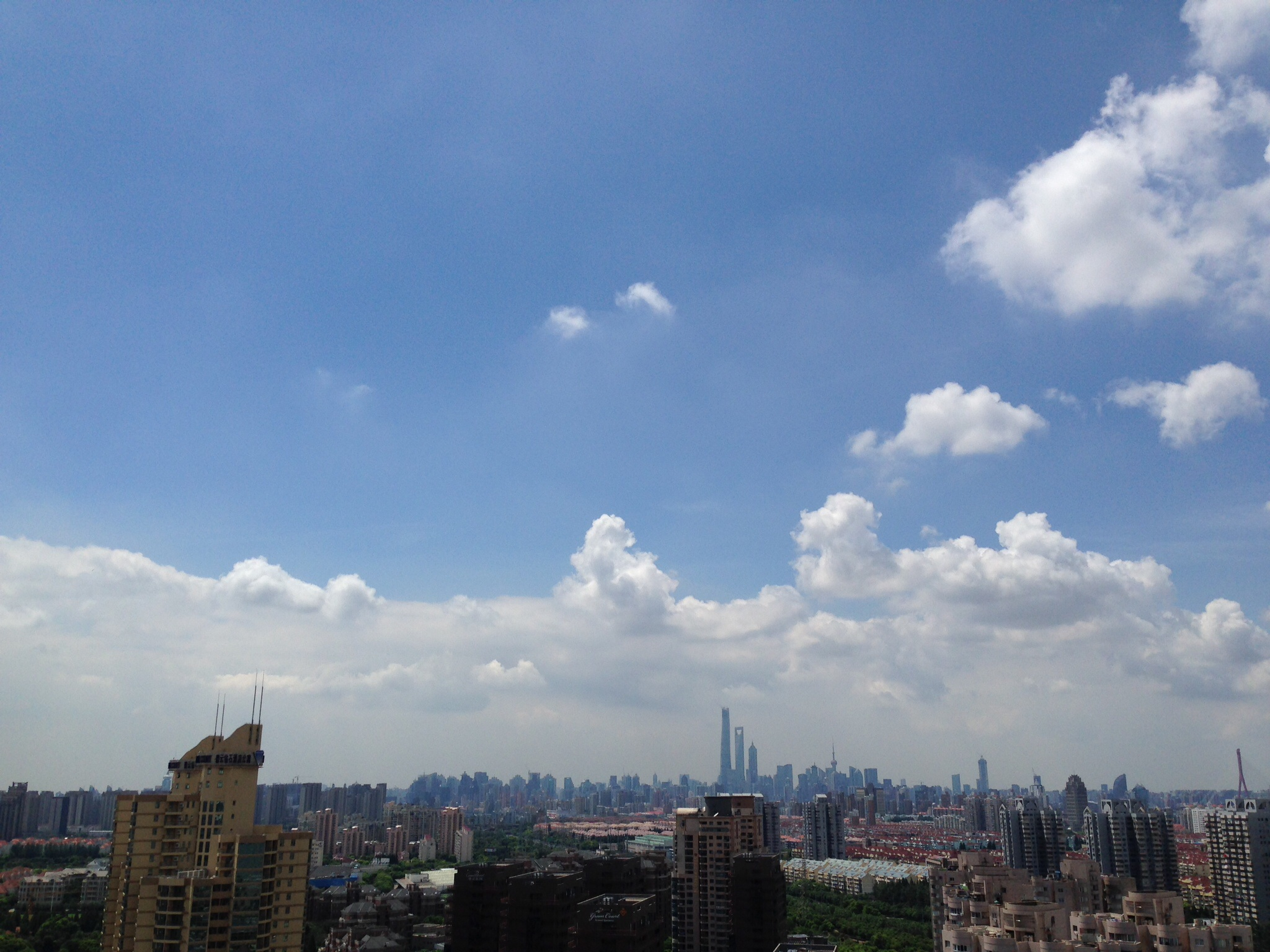 The view from our hotel in Pudong.