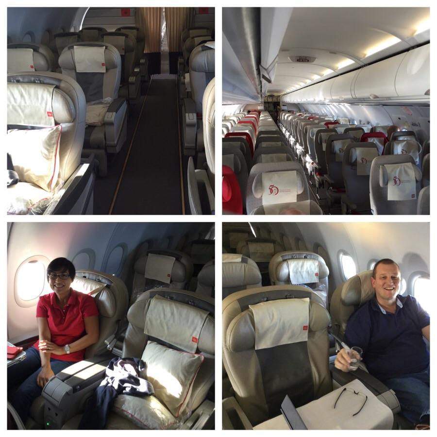 No joke. These photos were taken during the Royal (!) Jordanian flight.