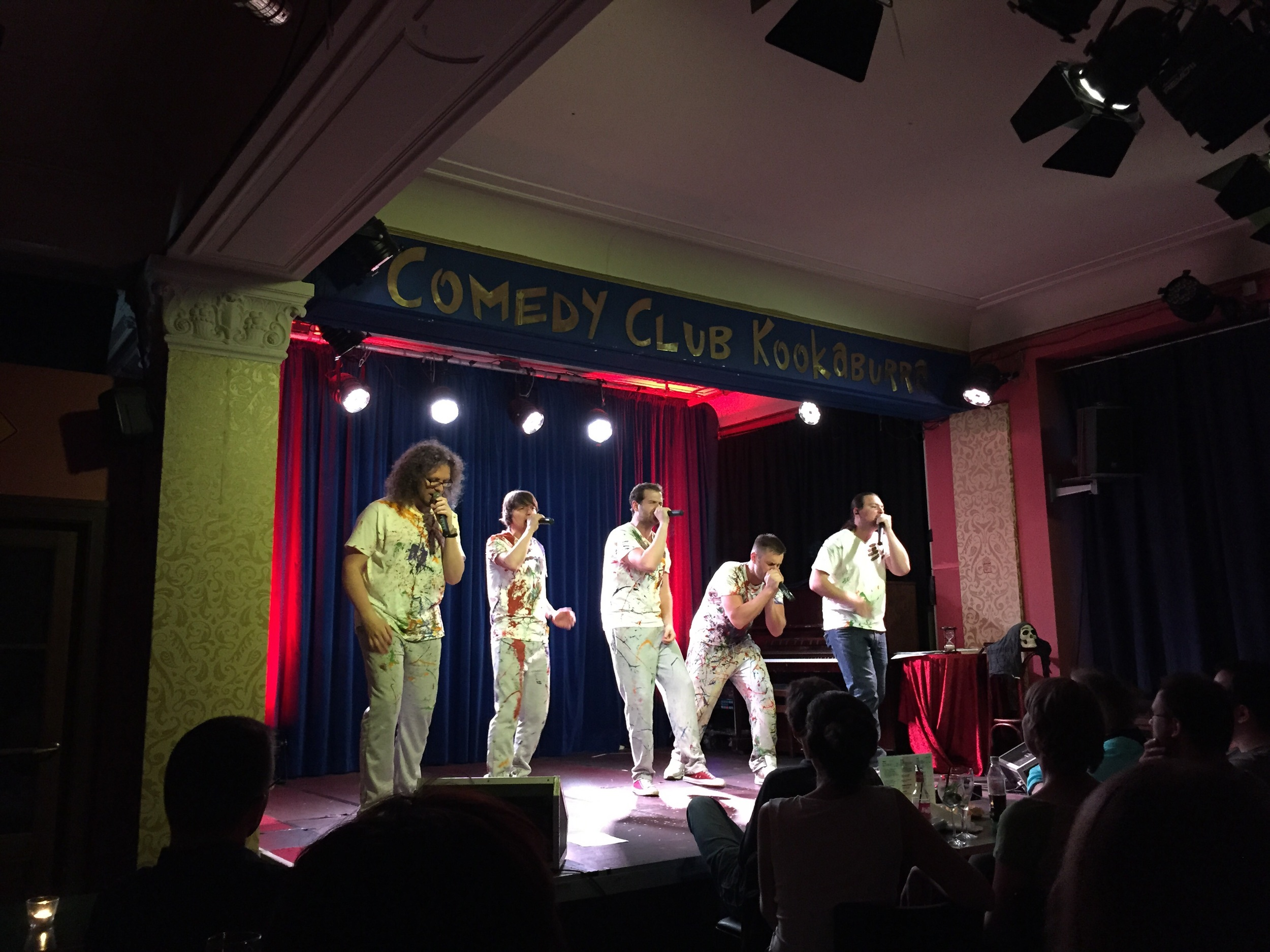 Comdey Club Kookaburra: the second act was an a cappella group called Yeomen. Great fun!