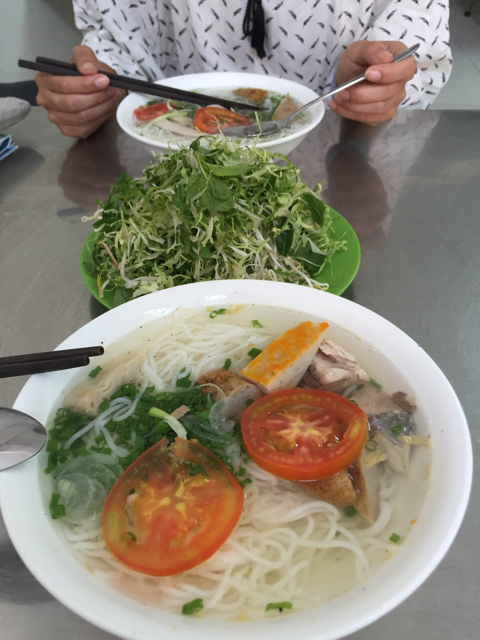 The best meal we had in Nha Trang was fish noodle soup for breakfast; I don't know if that's a good thing or a bad thing.