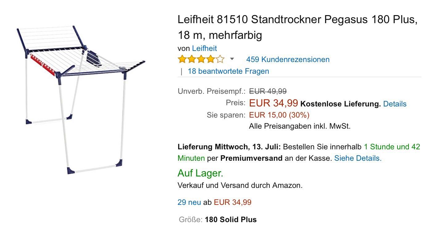 Leifheit clotheshorse; luxury brand.