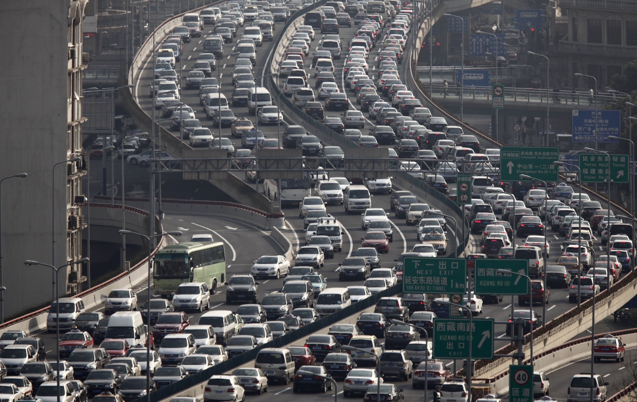 A normal day on Shanghai roads.