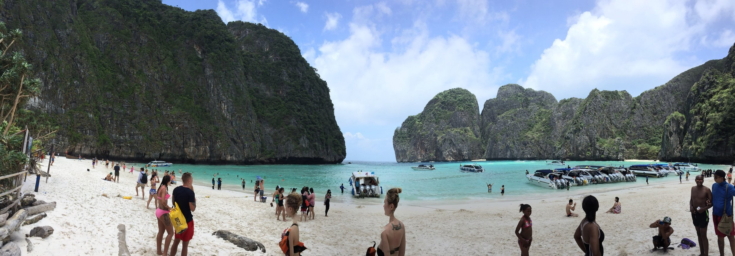 Maya Beach; made famous by the movie 'The Beach'