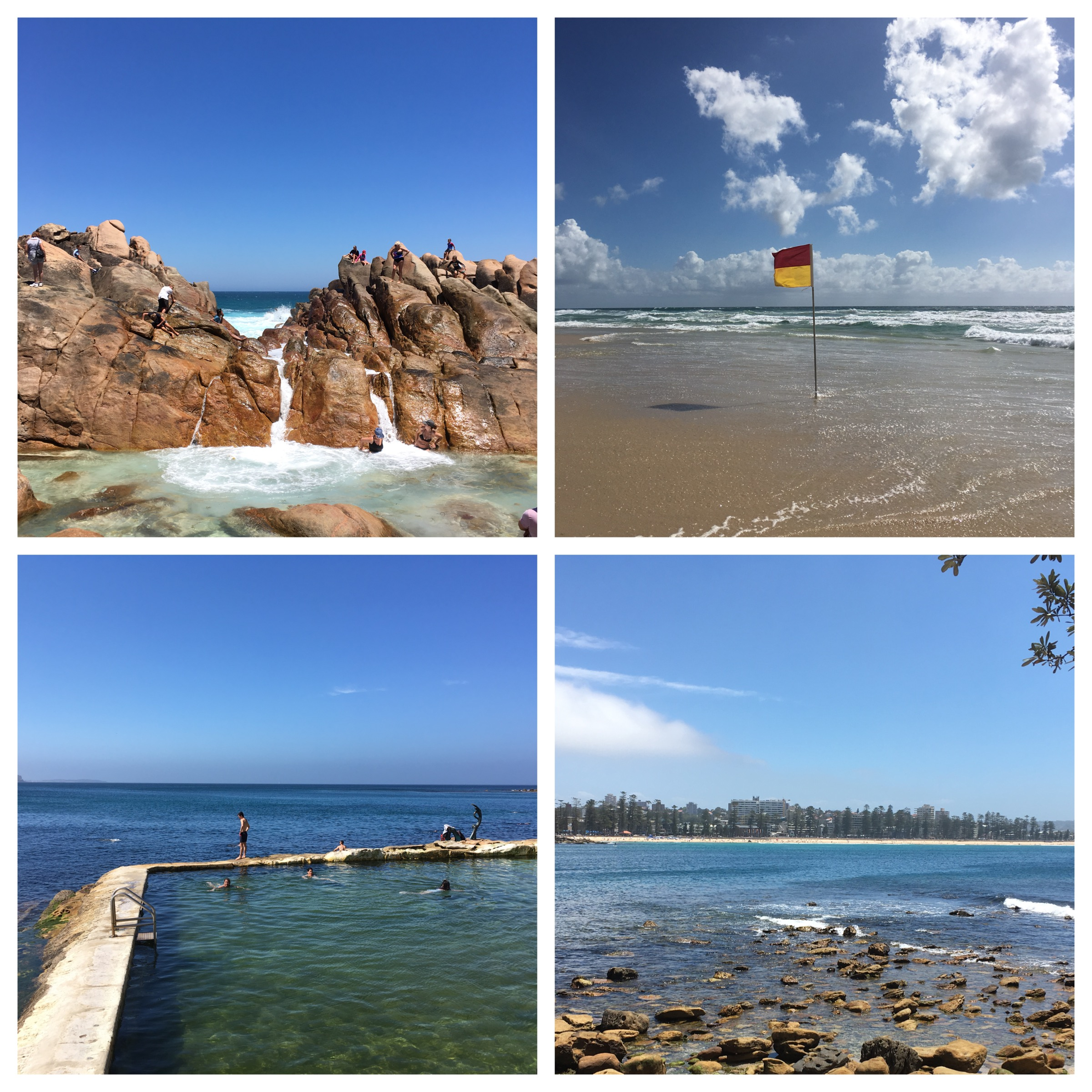 Top left and clockwise: Dunsborough, Surfer's Paradise, Manly and Cabbage Tree Bay