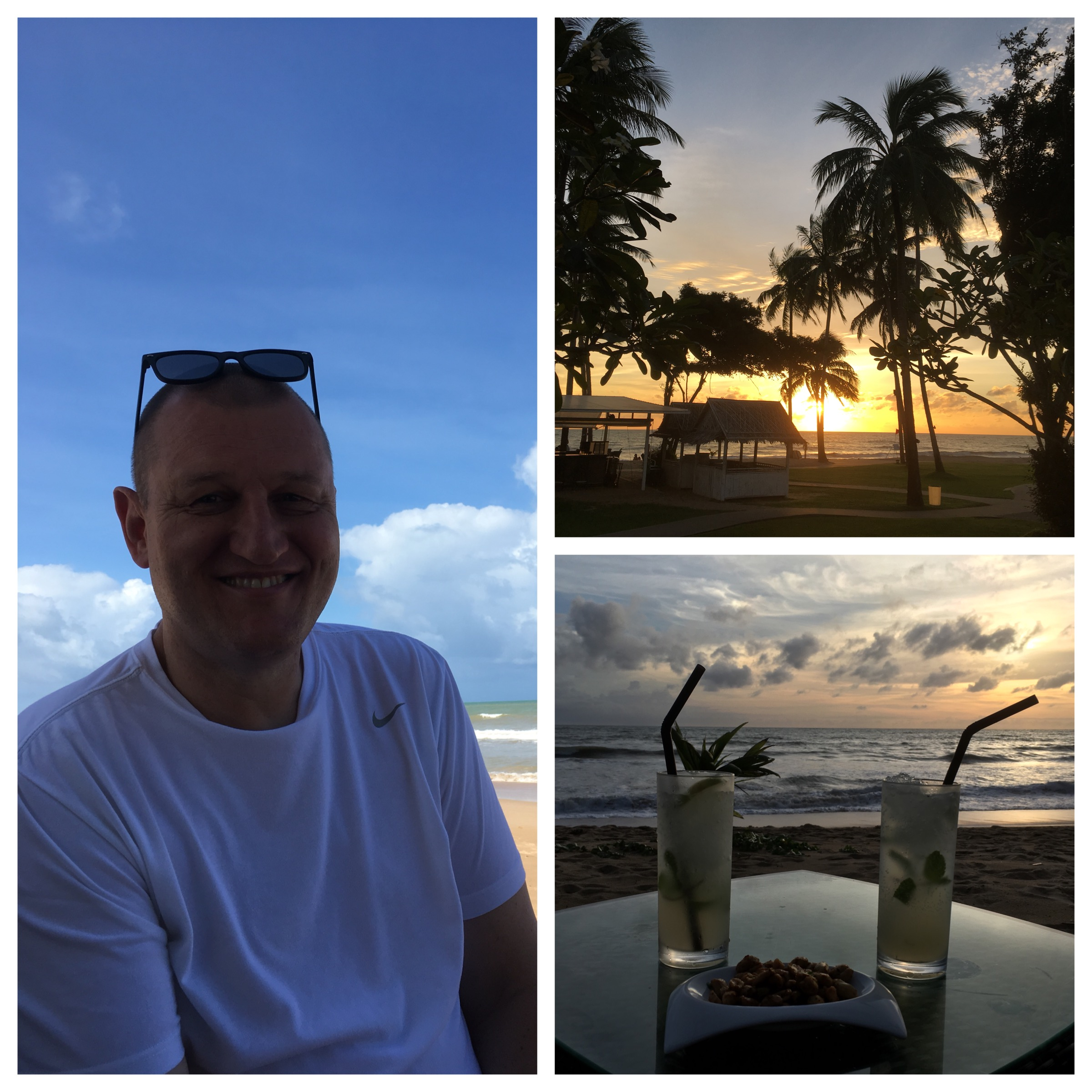 The birthday boy, enjoying sunsets each evening... with drinks of course :o)