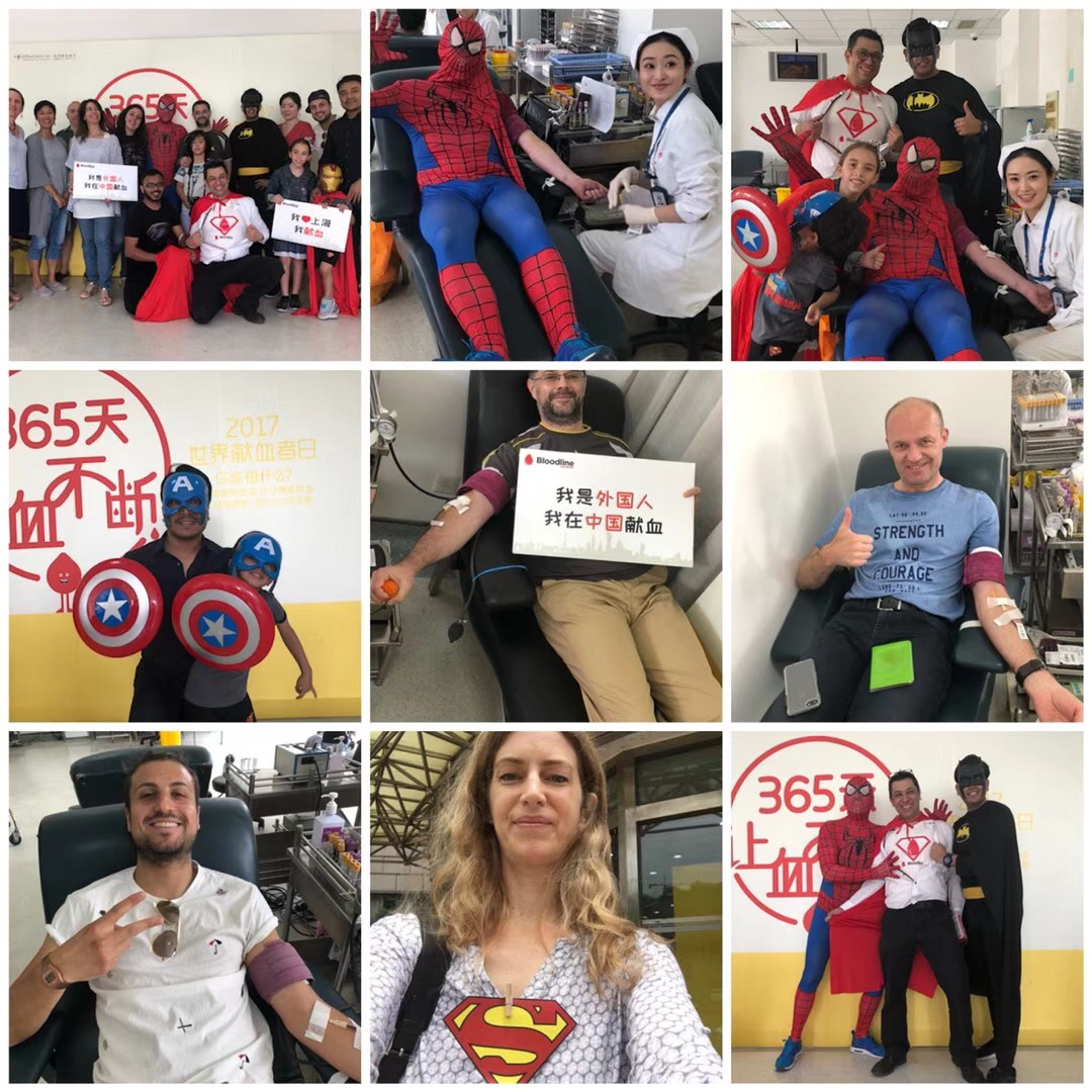 The event ran for 6 hours and many volunteers came by to donate, some traveling for over an hour to get to the Center. The fully dressed superheroes are the founders and main committee members of Bloodline.