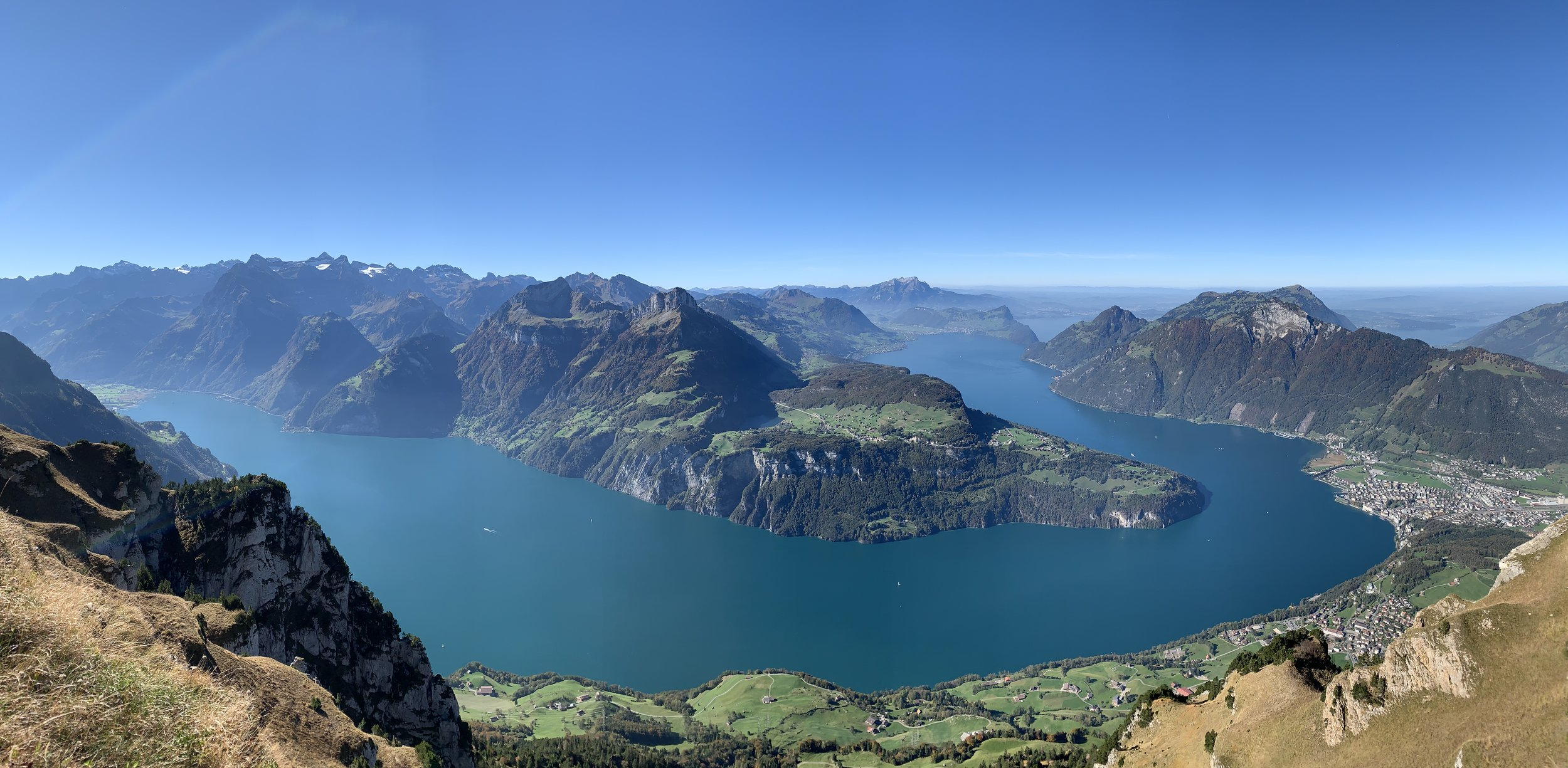 The view over the Lake of Lucerne from Stoos.
