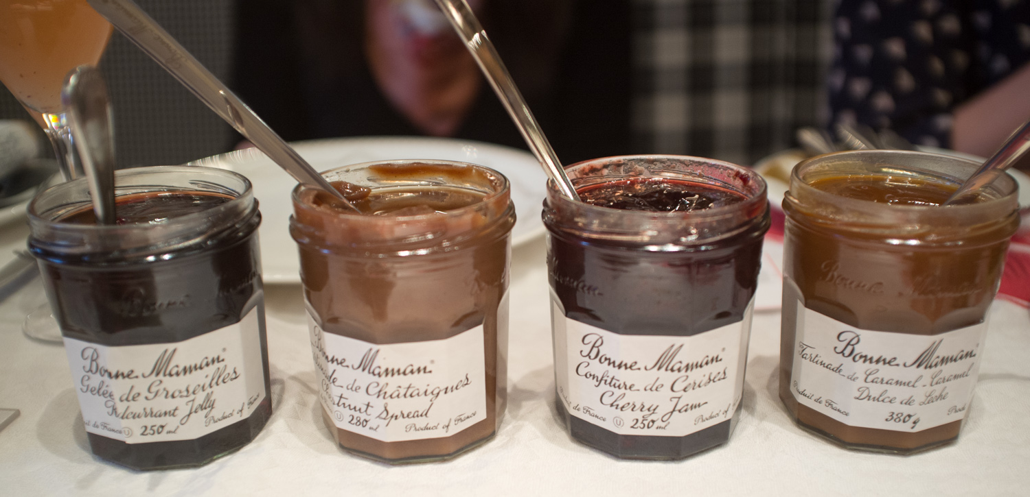 The delicious Bonne Maman Jam and Spreads.