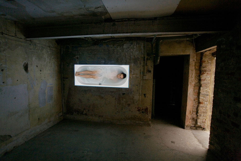 Documentation of 'Bath' at V22 Project Space, London