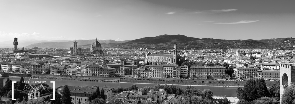 Overlooking Florence from Piazzale Michelangelo, photograph by Jared Lawson Photography