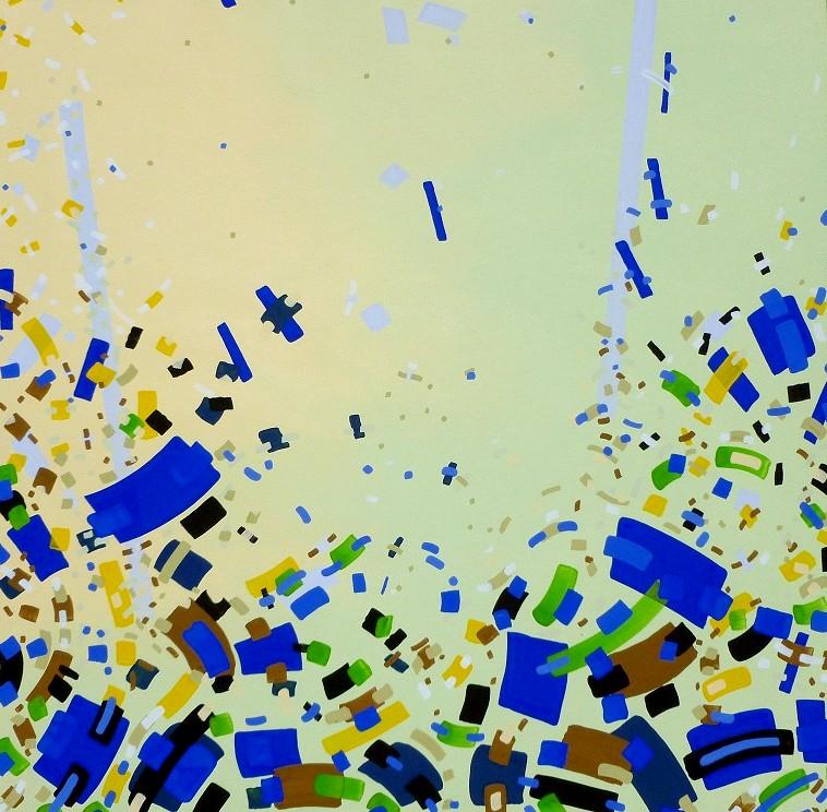 Jurgen Tarrasch, From the series Relieve, 2011, 40x40in, own tech.on canvas..JPG