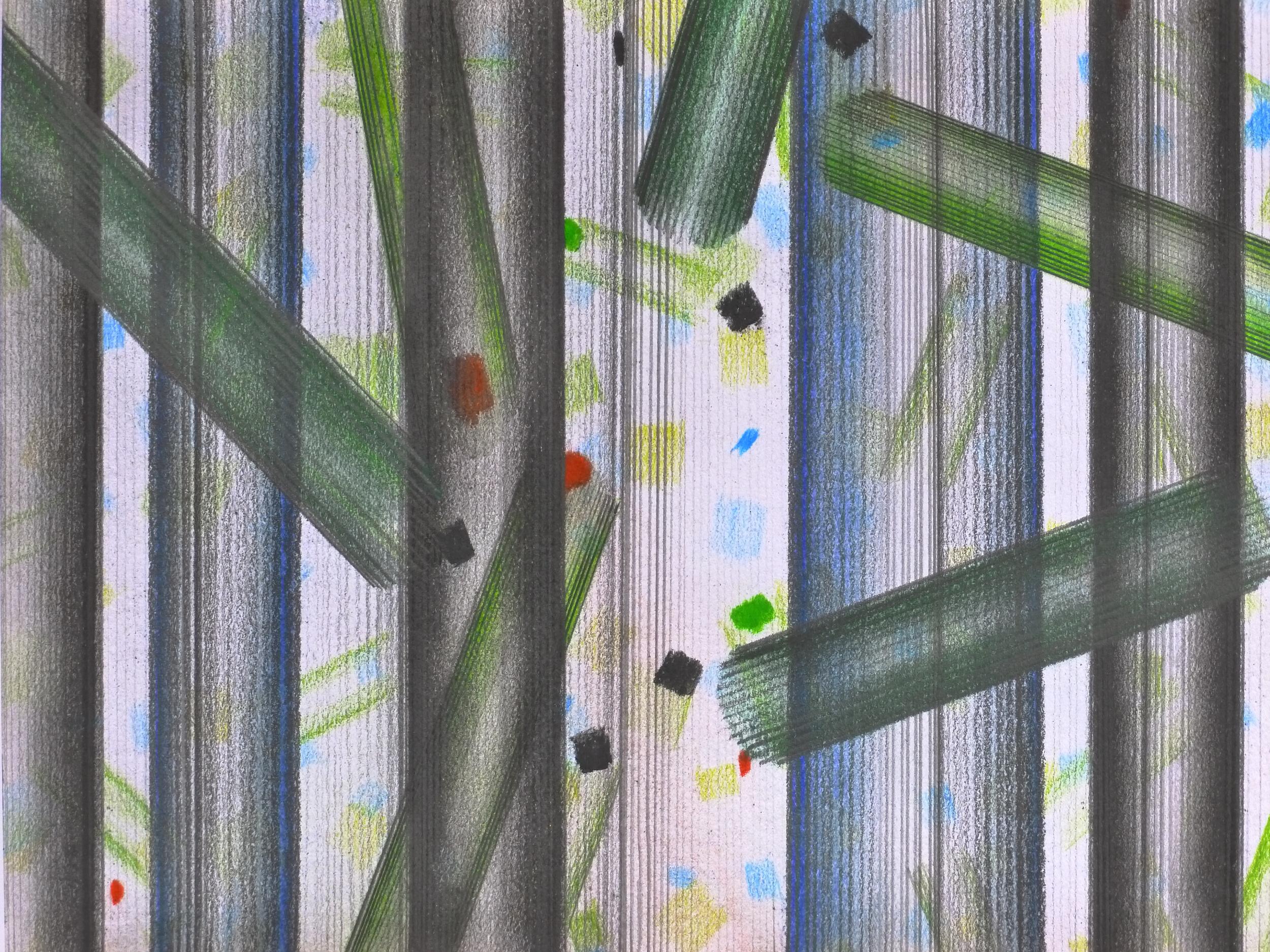 Jurgen Tarrasch, Falling, 2010, pastel on paper, 9 x 12 inches..JPG