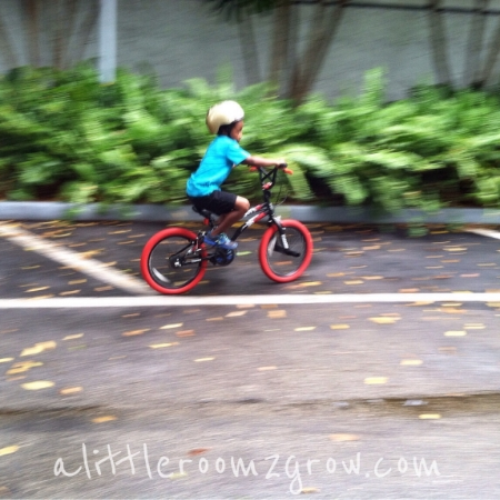 child learn to ride bike