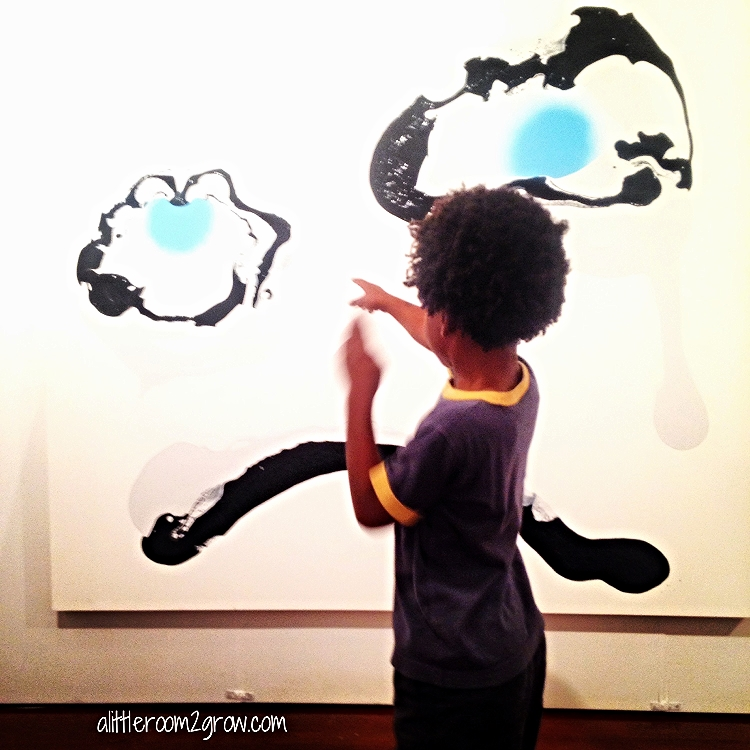 Child exploring art