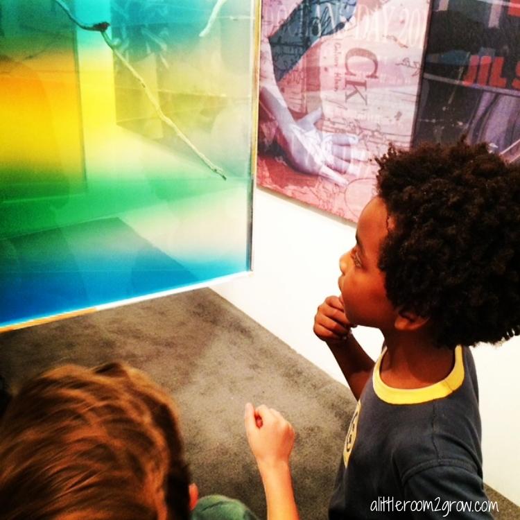 boys exploring art