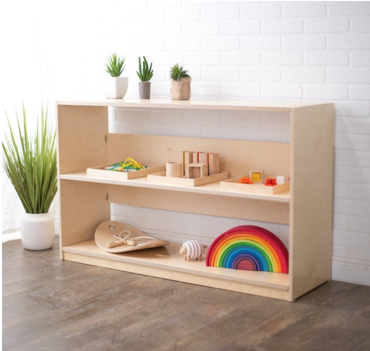 Toddler & PreschoolerPlay Shelf - Easy way to support independence and creativity.