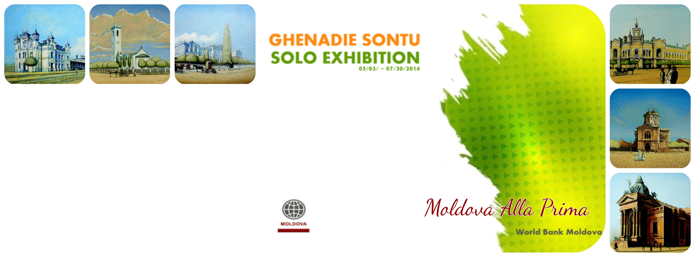 Ghenadie Sontu Solo Exhibition at  World Bank Moldova , 05/03 - 09/15/2014, , #20/1, Pushkin st., Chisinau, Moldova