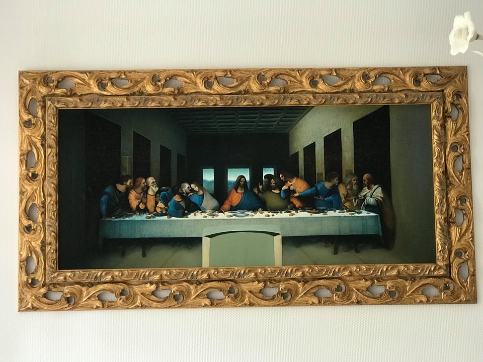 Last Supper by Leonardo da Vinci, copy by Ghenadie Sontu, 2016.jpg