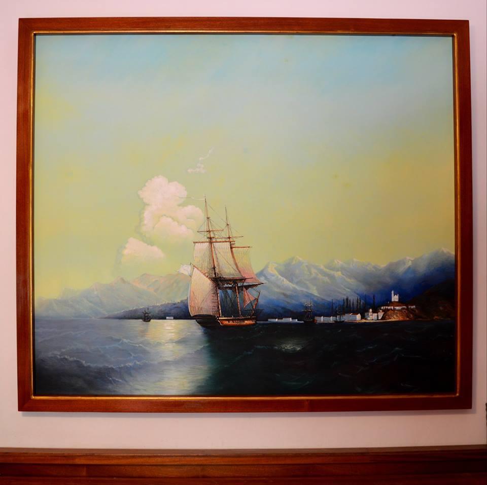 Aivazovsky painting, copy by Ghenadie Sontu
