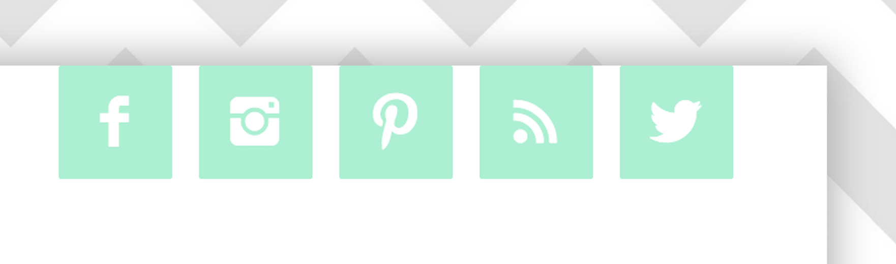 Before.  Generic social icons. Fine, but a little hard to see with white on mint.