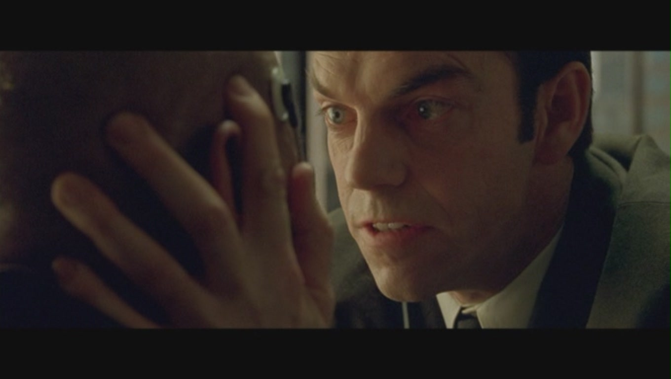 Hugo Weaving's trying to help me through the headache of life