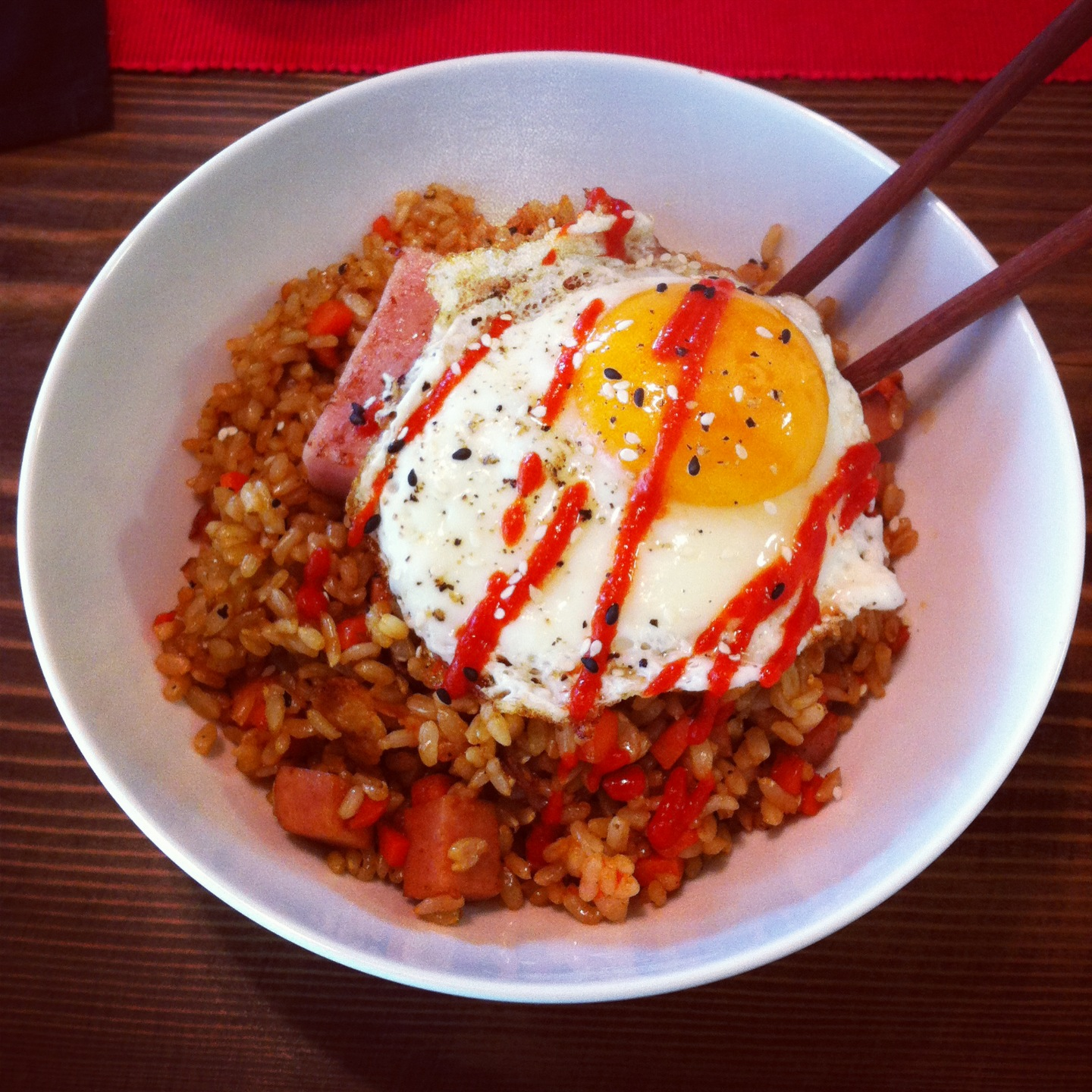 Spam Fried Rice for Lunch