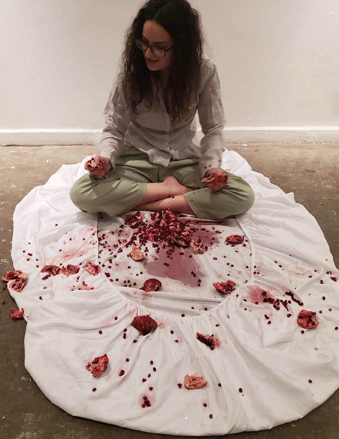 """""""My Body is Mine"""" Performance Documentation, Chinatown Soup Gallery, 2019."""