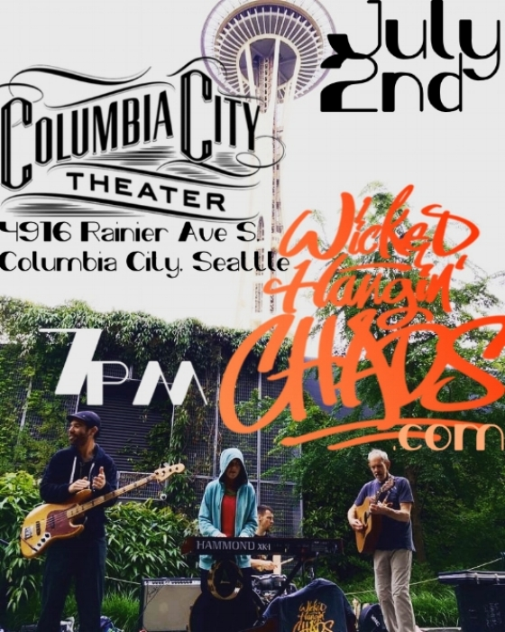 We will be playing at the Columbia City Theater on Sunday July 2nd from 7 to 11pm.  21+  No Cover