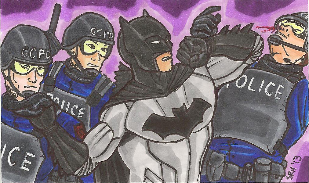 A sketch of Bats for a sketch card series I will be selling at CinciComiCon this year