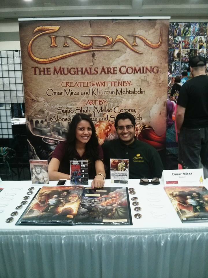 Zindan's table with Creator Khurram Mehtabdin