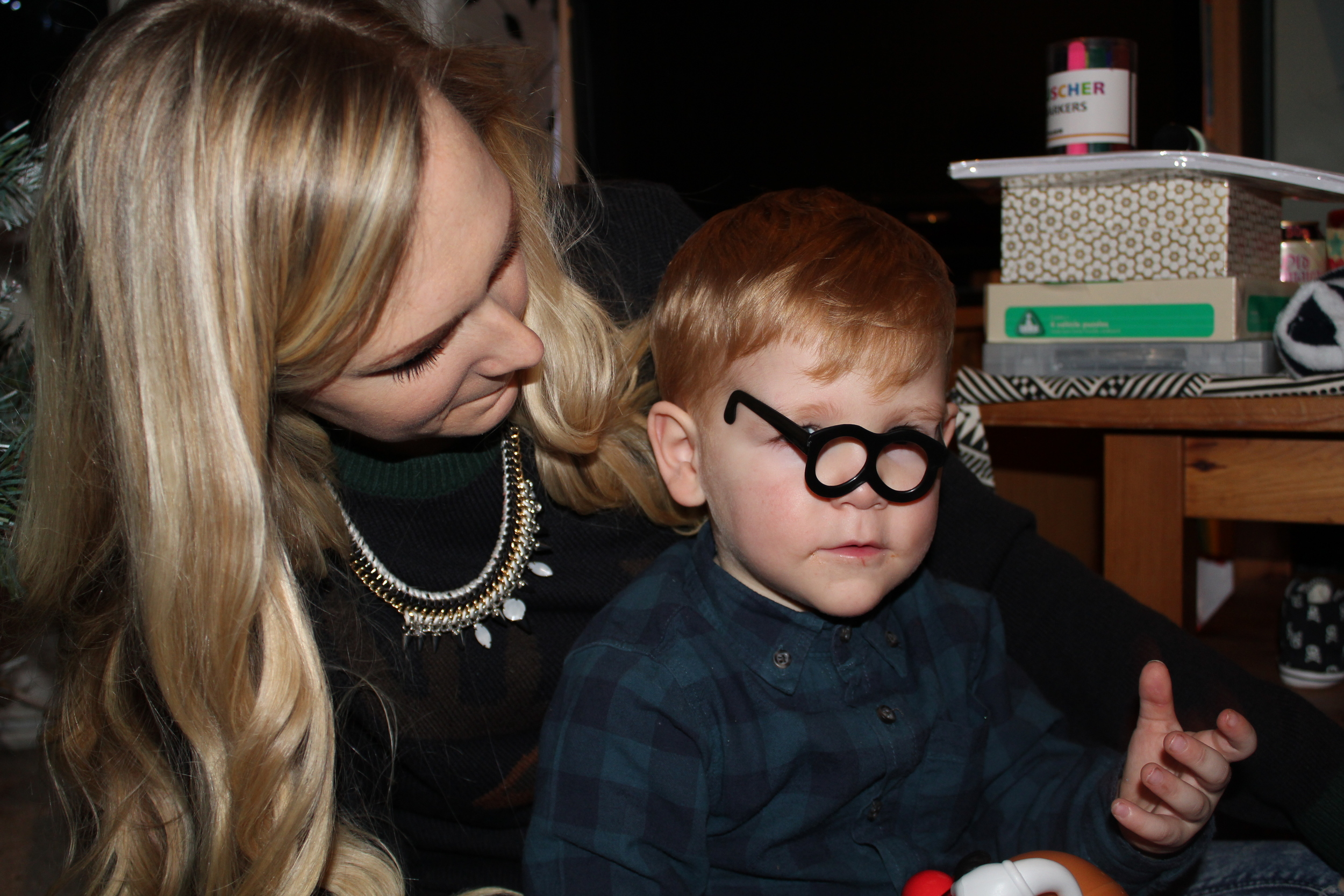 My nephew Ralph took a liking to Mr Potato Heads specs.