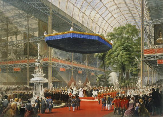 Queen Elizabeth opened the original exhibition, as seen in this artists impression