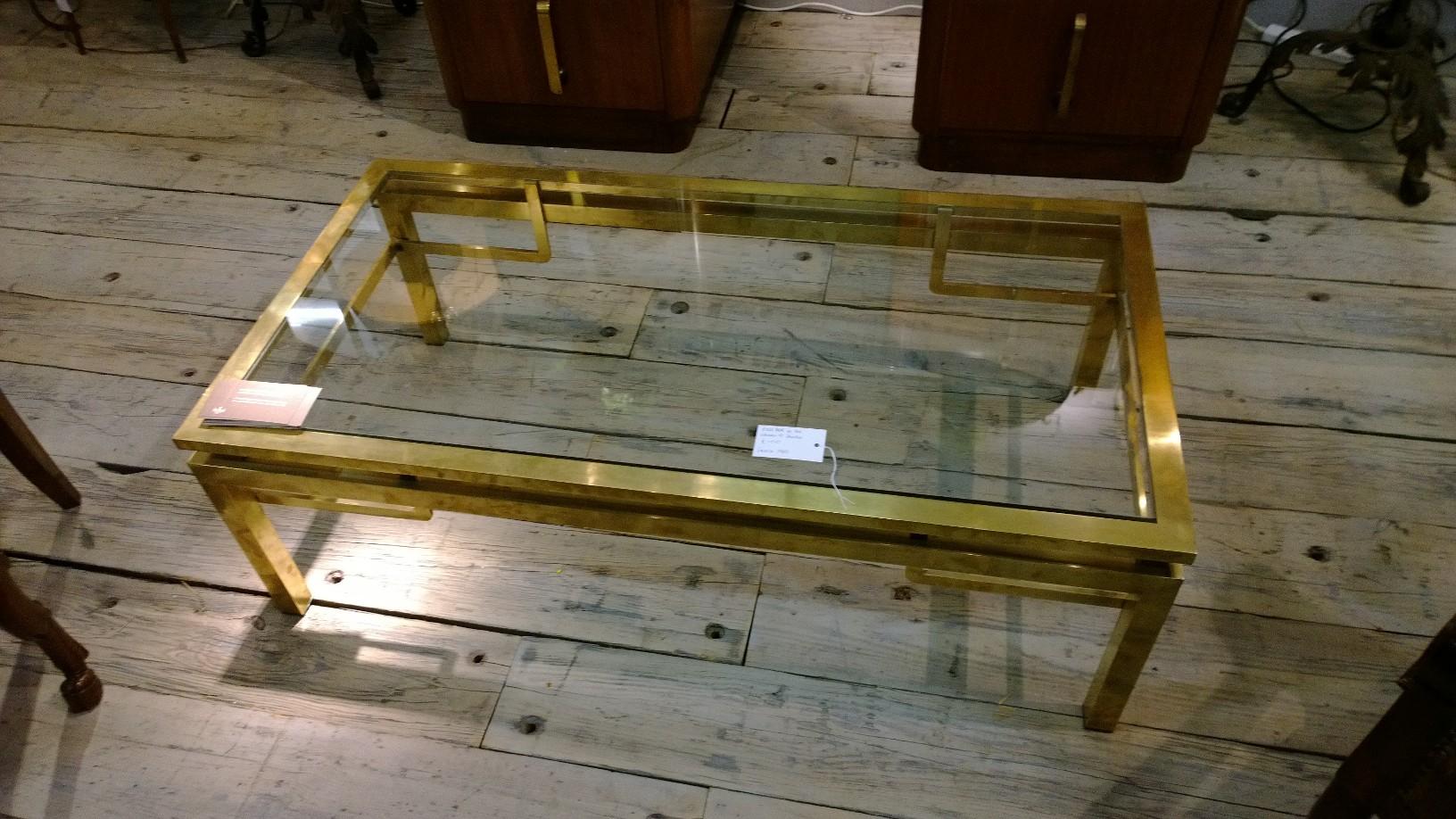 Brass coffee table circa 1960