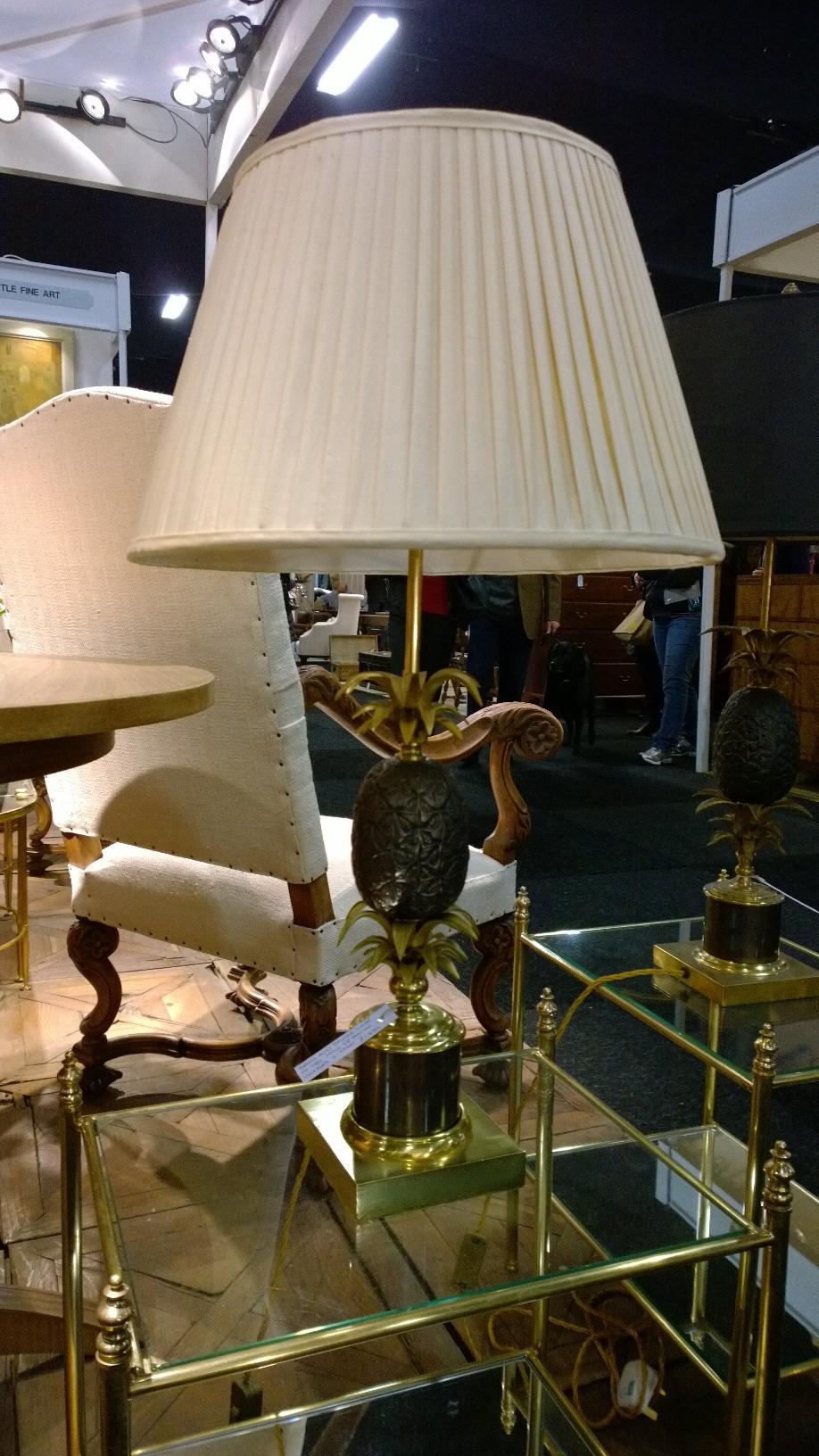 1950s Brass pineapple lamp, Maison Charles style