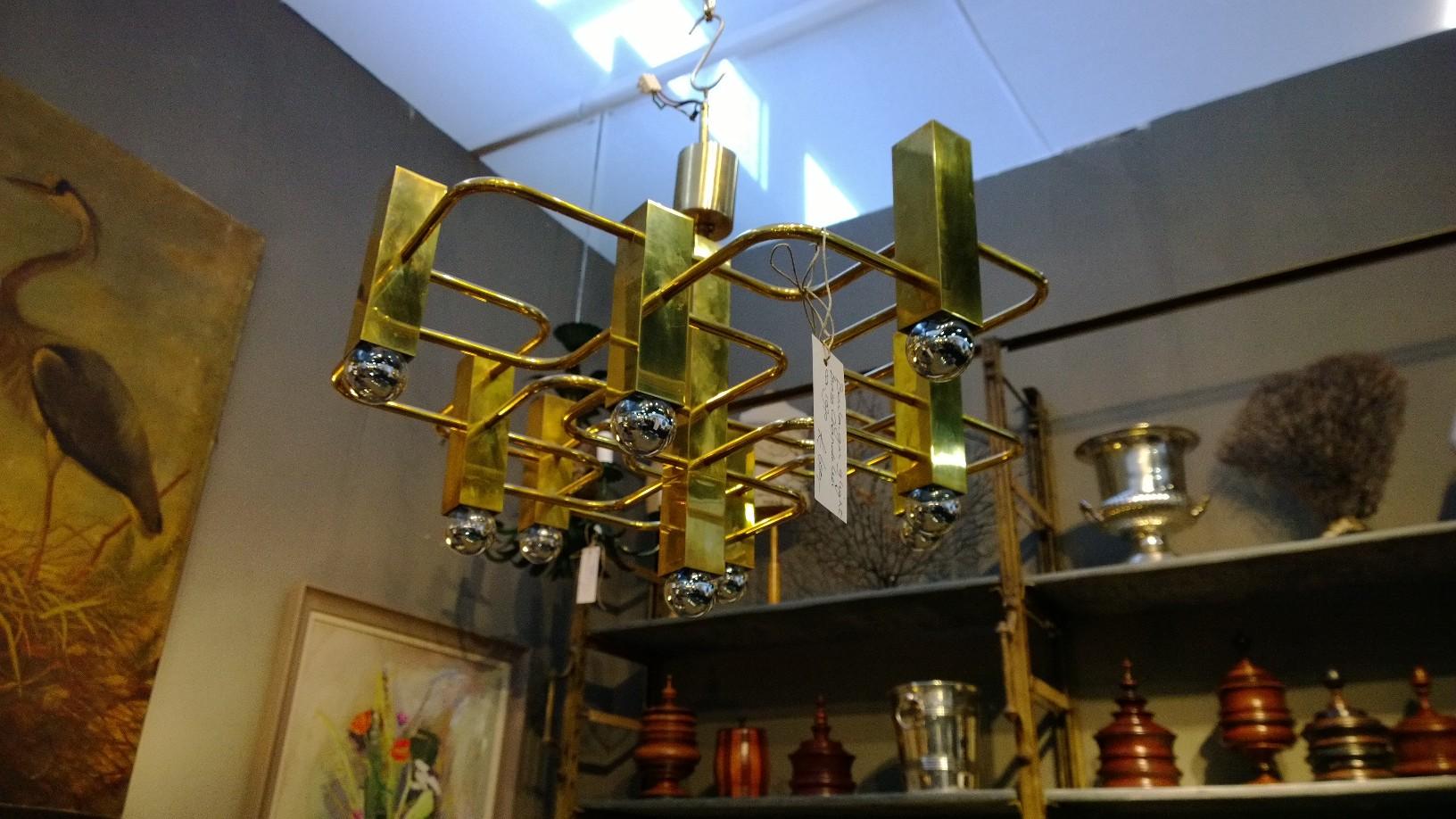 Brass Chandelier circa 1970